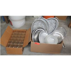 Misc. Serving Trays, Bowls, Glassware