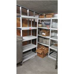 Qty 3 Tall Shelving Units (Contents of shelves not included)
