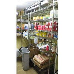 Qty 4 Commercial Wire Shelving Units (Contents of Shelves not included)