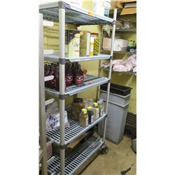 Tall Shelving Unit (Contents of shelves not included)