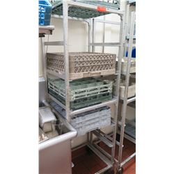 Tall Rolling Dish Rack Shelving Unit (Contents of shelves not included)