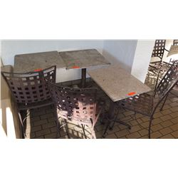 3 Patio Tables, 3 Metal Patio Chairs