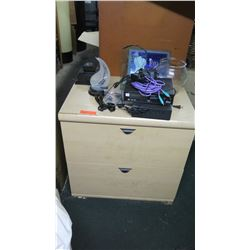 2-Drawer Cabinet, Misc. Electronics, Misc. Items