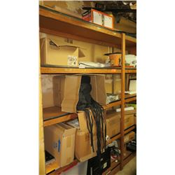 Contents of Wooden Shelving Unit - Aprons, etc. (not including shelving)
