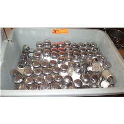 Large Tray of Glass Salt & Pepper Shakers
