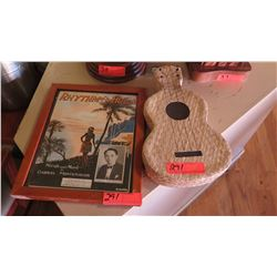 "Lauhala Woven Ukulele (Approx. 15""), Framed Music Publication Cover (11.5"" X 14.5"""