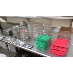 Large Lot of Plastic & Stainess Steel Food Prep Containers