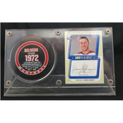 Jean Beliveau 99-00 Signed UD Retro Inkredible