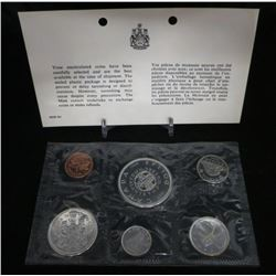 1964 Canadian Uncirculated Coin Set With Silver