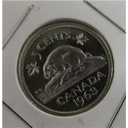 1963 Canadian 5 Cent Coin