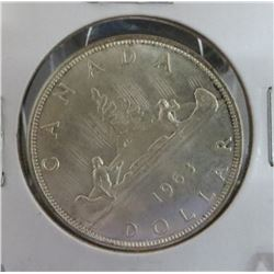 1963 Canadian Silver $1 Dollar Coin