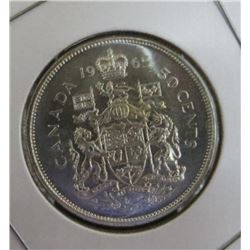 1965 Canadian Silver 50 Cent Coin
