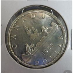 1959 Canadian Silver $1 Dollar Coin