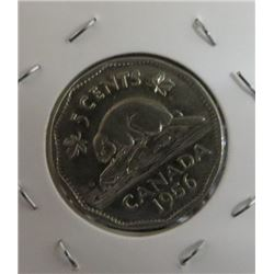 1956 Canadian 5 Cent Coin
