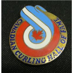 Canadian Curling Hall Of Fame Collector Pin