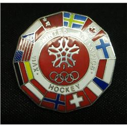 XVth Winter Olympics Hockey Collector Pin
