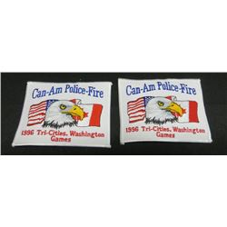 Lot Of 2 Can-Am Police-Fire Tri-Cities Washington
