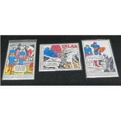 1966 Marvel Super Heroes Cards Lot Of 3 Cards