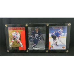 3 Card Lot In Holder Ryan Smyth, Georges Laraque