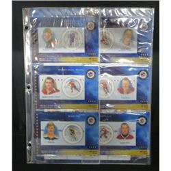 2000 Canada Post NHL Hockey Stamps Set Of 6