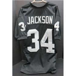 Bo Jackson Oakland Raiders Signed Jersey With Leaf