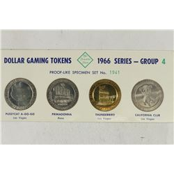 4 $1 GAMING TOKENS 1966 SERIES GROUP 4 (PF LIKE)