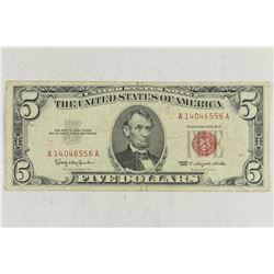 1963 $5 RED SEAL US NOTE