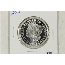 1 TROY OZ .999 FINE SILVER PROOF ROUND 2014