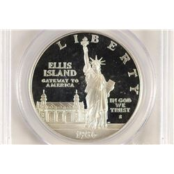 1986-S STATUE OF LIBERTY SILVER DOLLAR PCGS PR69