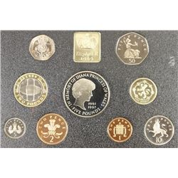 1999 UNITED KINGDOM DELUXE PROOF SET 9 COIN