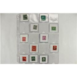 14 ASSORTED GERMAN WWII STAMPS WITH SWASTIKAS