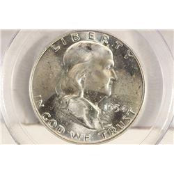 1954-D FRANKLIN HALF DOLLAR PCGS MS63