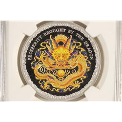 2012 COOK ISLAND SILVER $5 DRAGON-PROSPERITY