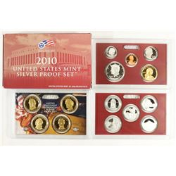 2010 US SILVER PROOF SET (WITH BOX) 14 PIECES