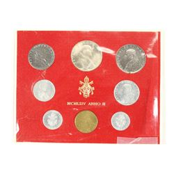 1964 VATICAN 8 COIN MINT SET ORIGINAL MINT PACKAGE