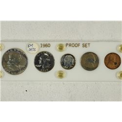 1960 SMALL DATE US SILVER PROOF SET