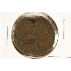 1848 US LARGE CENT WITH COUNTER STAMP