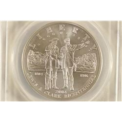 2004-P LEWIS & CLARK SILVER DOLLAR ANACS MS70