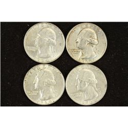 4-1964-D WASHINGTON SILVER QUARTERS