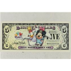 2009 SERIES $5 DISNEY DOLLARS CRISP UNC