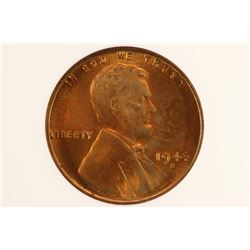 1944-D NO VDB LINCOLN CENT ANACS MS63RB
