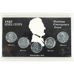 1943 STEEL CENTS SET AS SHOWN