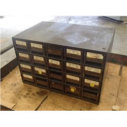 "20 Drawer Tool Organizer with Contents, Overall: 17"" x 11 x 11"""