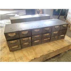 18 Drawer Tool Organizer, Overall: 34  x 11  x 11