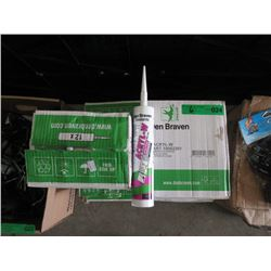 6 Cases of 12 Den Braven Black Caulking