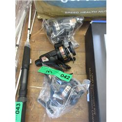 3 New Aqua Strike Graphite Fishing Reels
