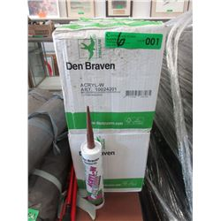 6 Cases of 12 Den Braven Brown Acrylic Sealent