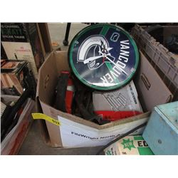 Box of Tools, Canuck Clock & More