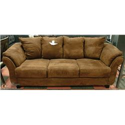 "NEW CHOCOLATE BROWN SOFA 90"" X 40"""