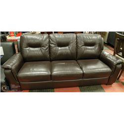 NEW ESPRESSO BROWN LEATHERETTE SOFA
